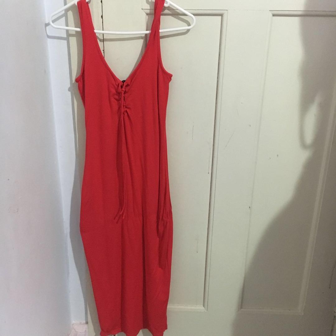 BARDOT RED MAXI DRESS