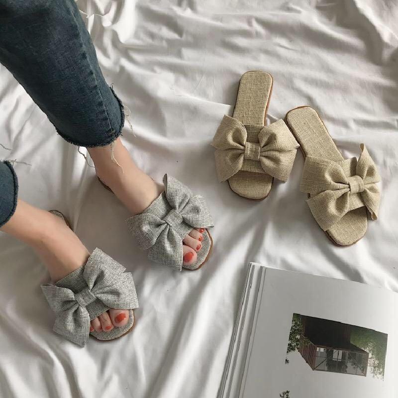 Butterfly slippers female summer 2018