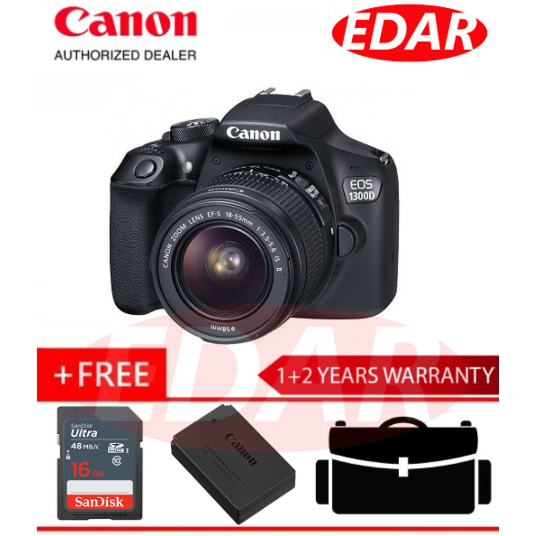 Canon 1300d Eos Ef S 18 55mm Is Ii Kit Lens Original Official Digital With Photography On Carousell