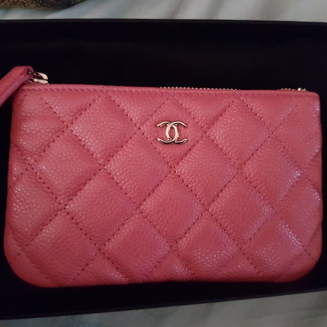 49878920d899e4 Chanel Mini O Case Pink 18S, Luxury, Bags & Wallets on Carousell