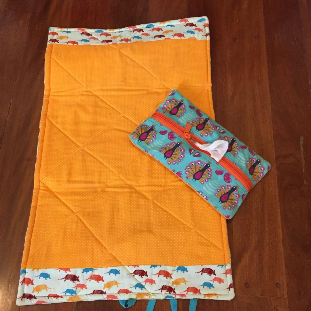 Change mat, diaper clutch, nappy bag