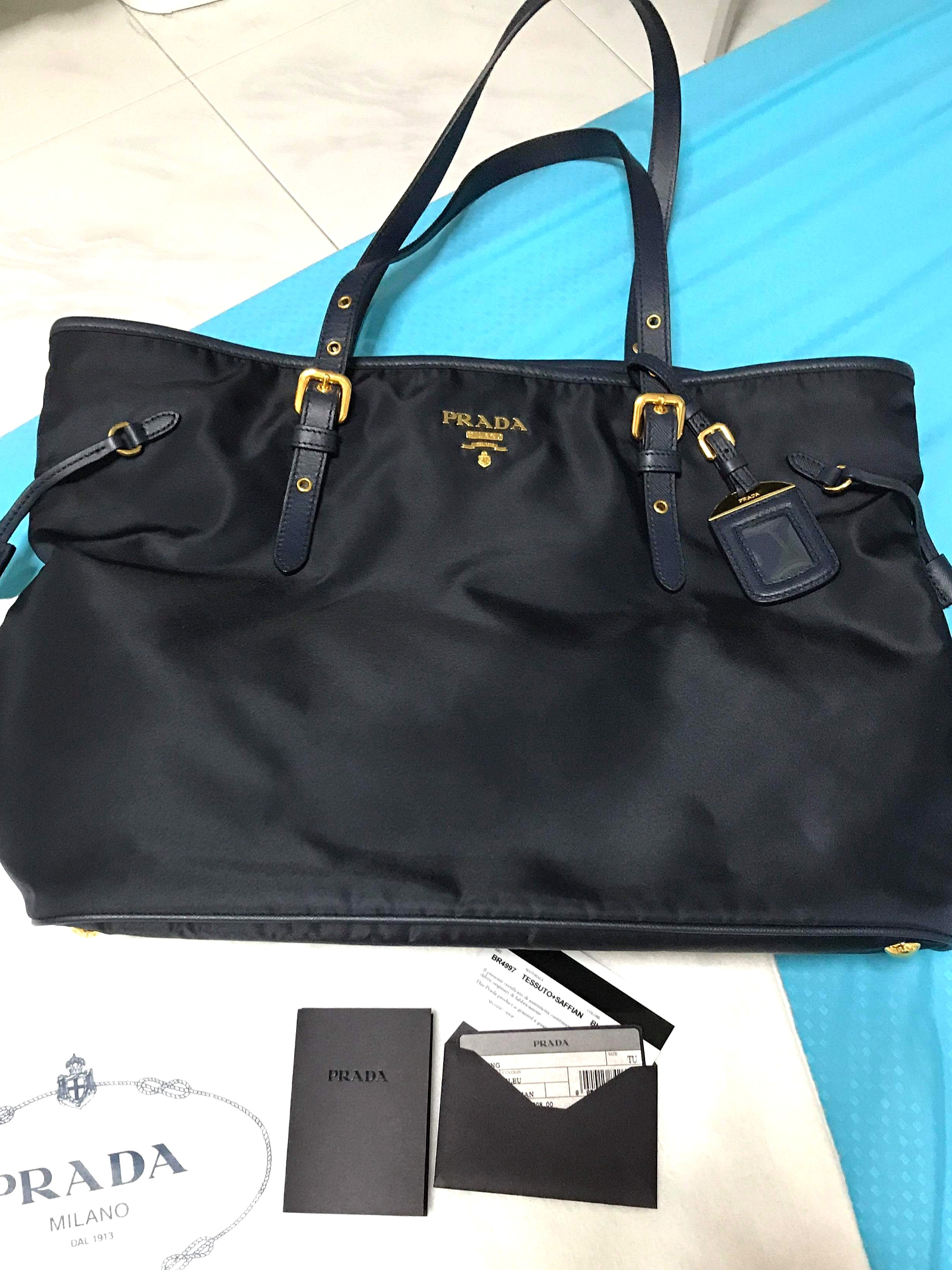 0ac8d1feb55 CLEARANCE- Authentic Prada Nylon Tote Bag (BR4997), Luxury, Bags ...