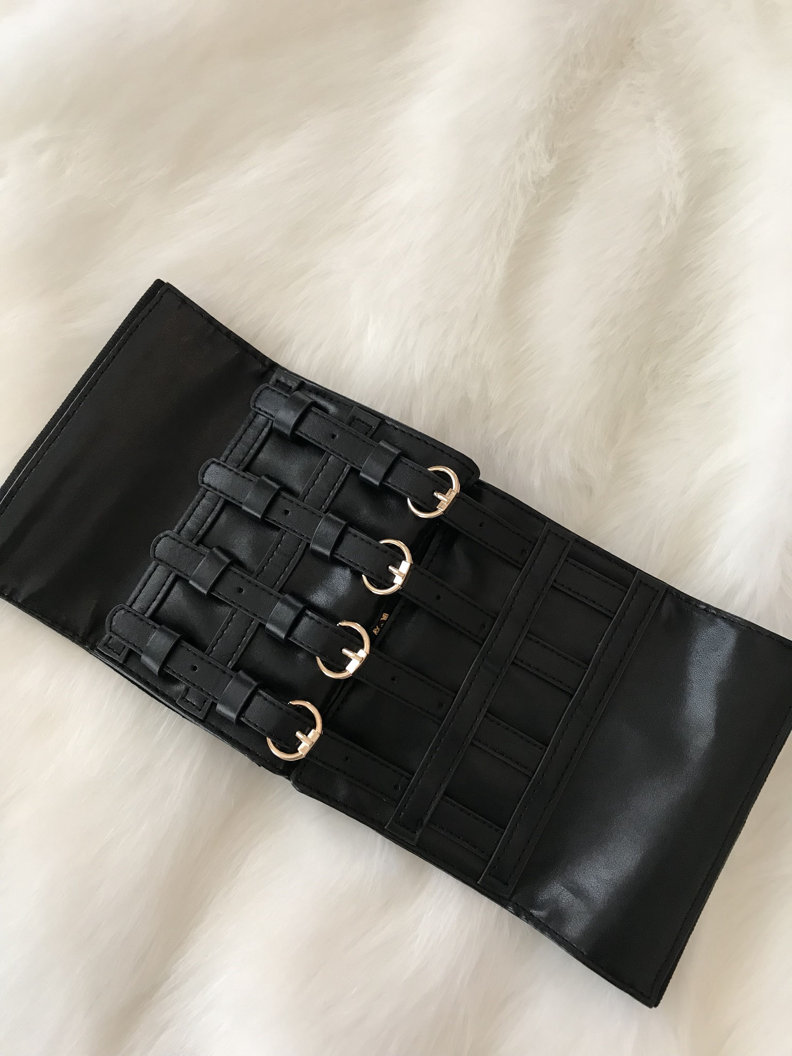 Faux Leather Corset Belt S/M (Adjustable)