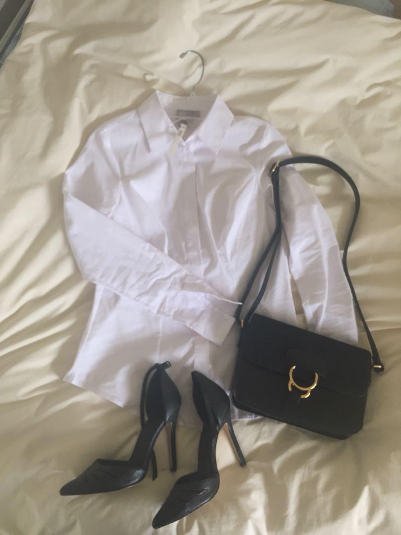 Full-bust white shirt