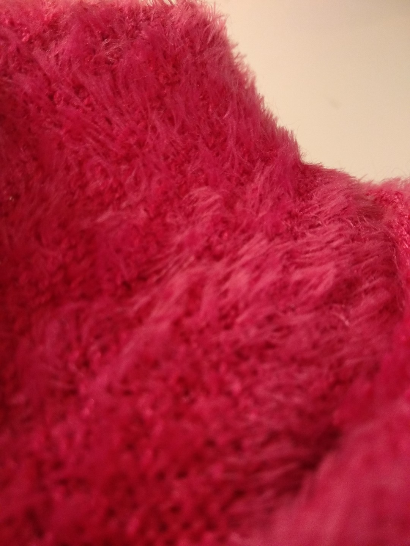 Garage fuzzy crop tee shirt (pink)