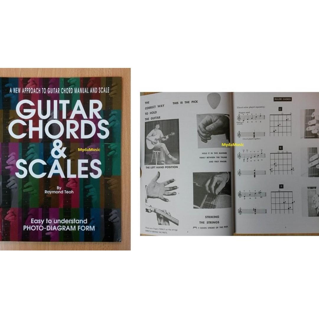 Guitar Chords Scales Beginner Guitar Book Books Stationery
