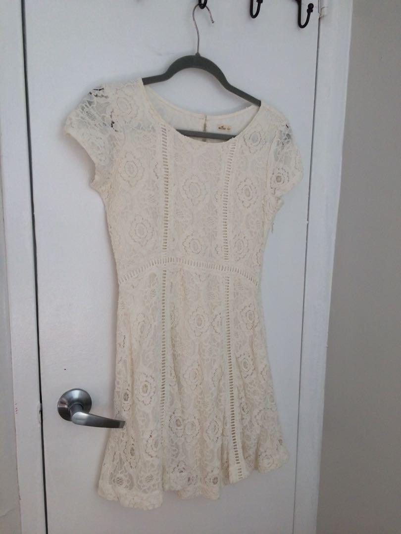 Hollister white dress