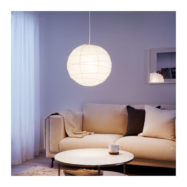 IKEA Regolit Tissue paper sphere light