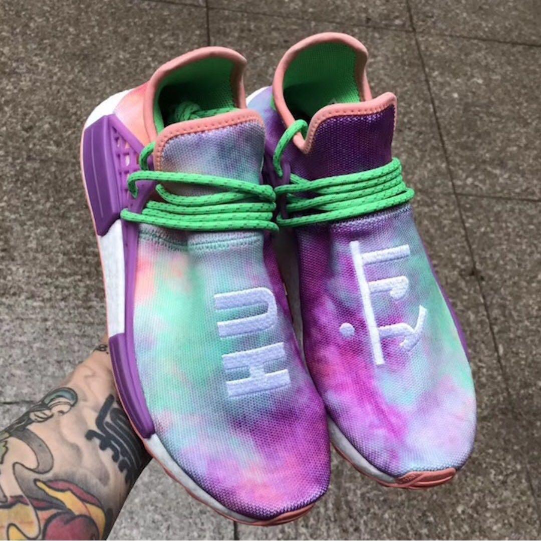 5b76c5817 Instock Authentic Adidas Pharrell Williams Human Race NMD Holi Chalk ...