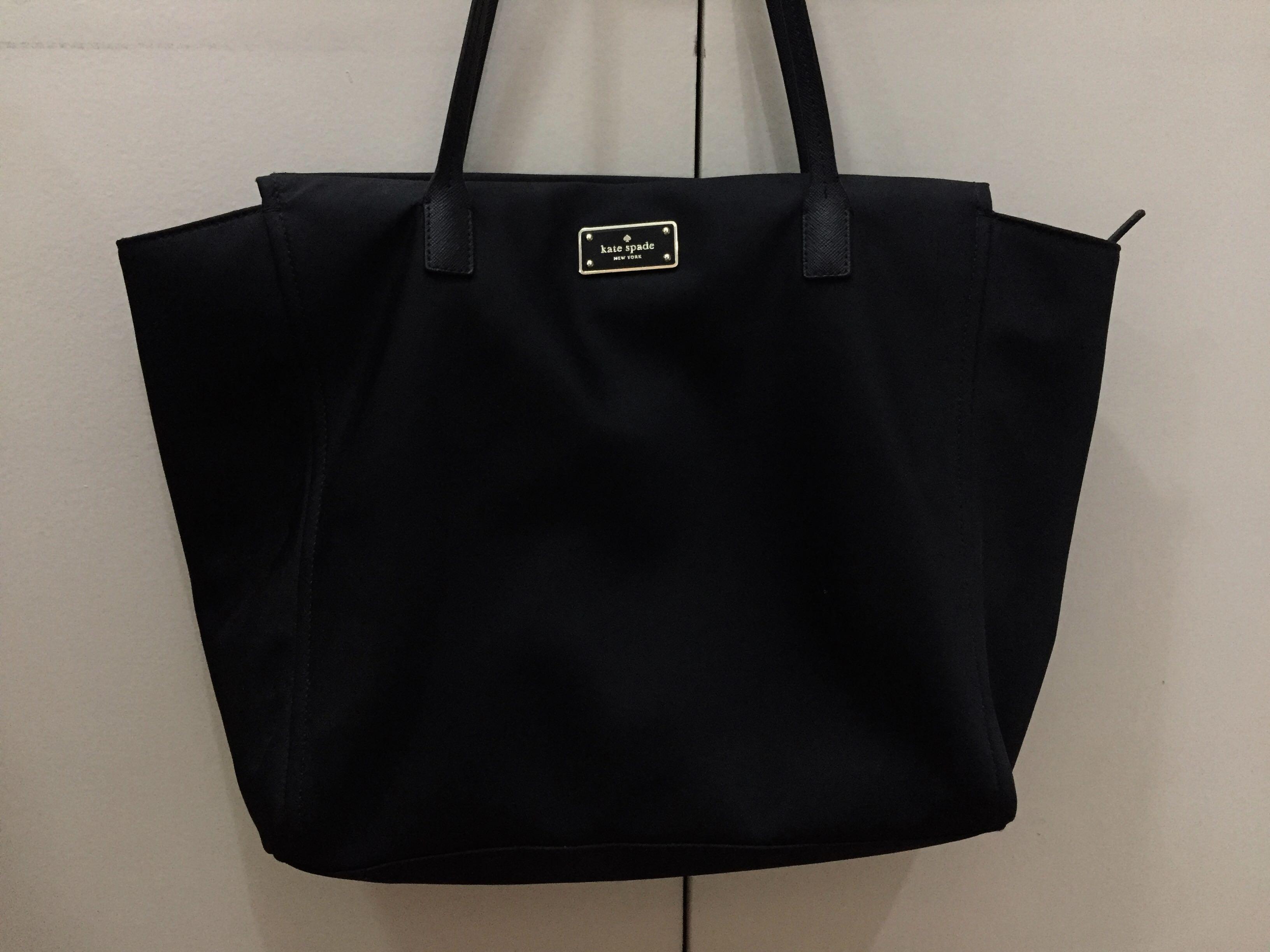 Kate Spade Nylon Black Shoulder Bag Tote Gold Hardware Women S Fashion Bags Wallets On Carou
