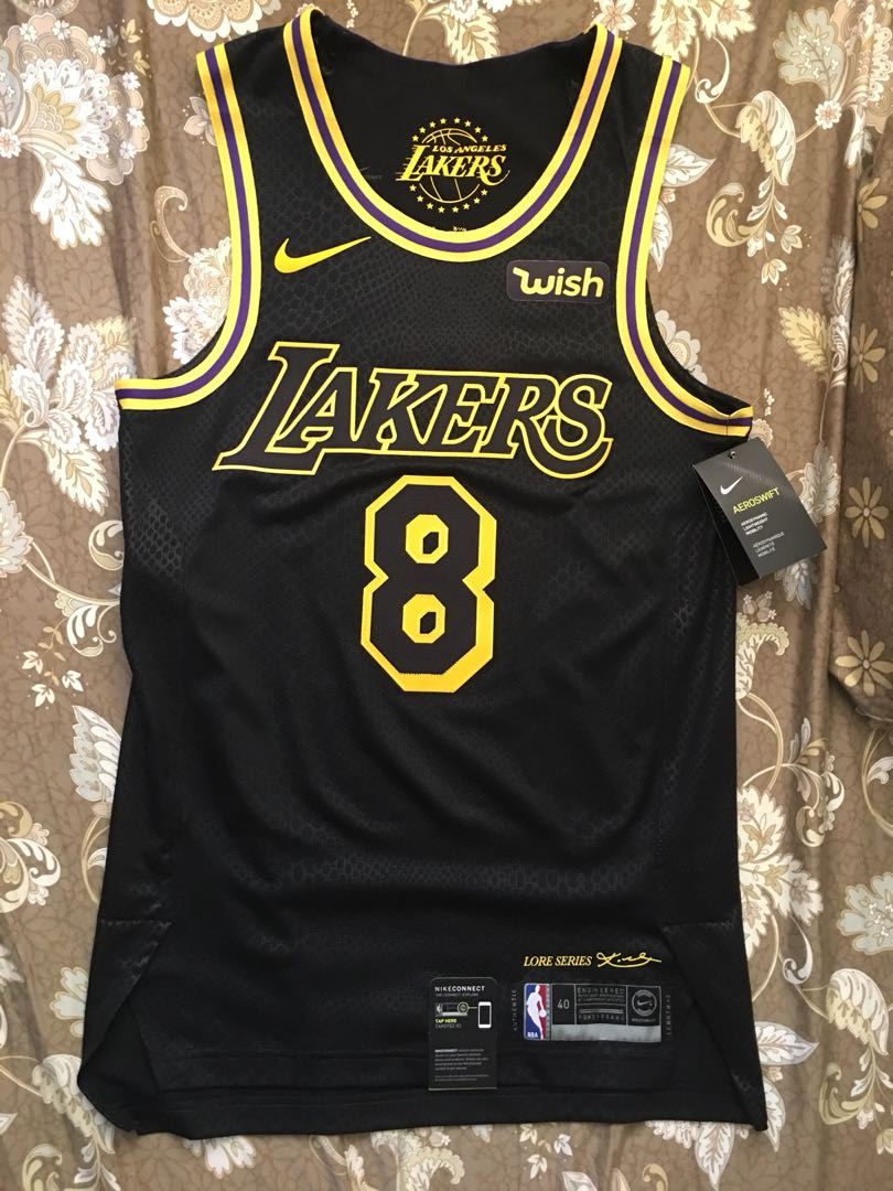 71608d138 Kobe Nike City Edition Authentic Jersey with Sponsor Logo