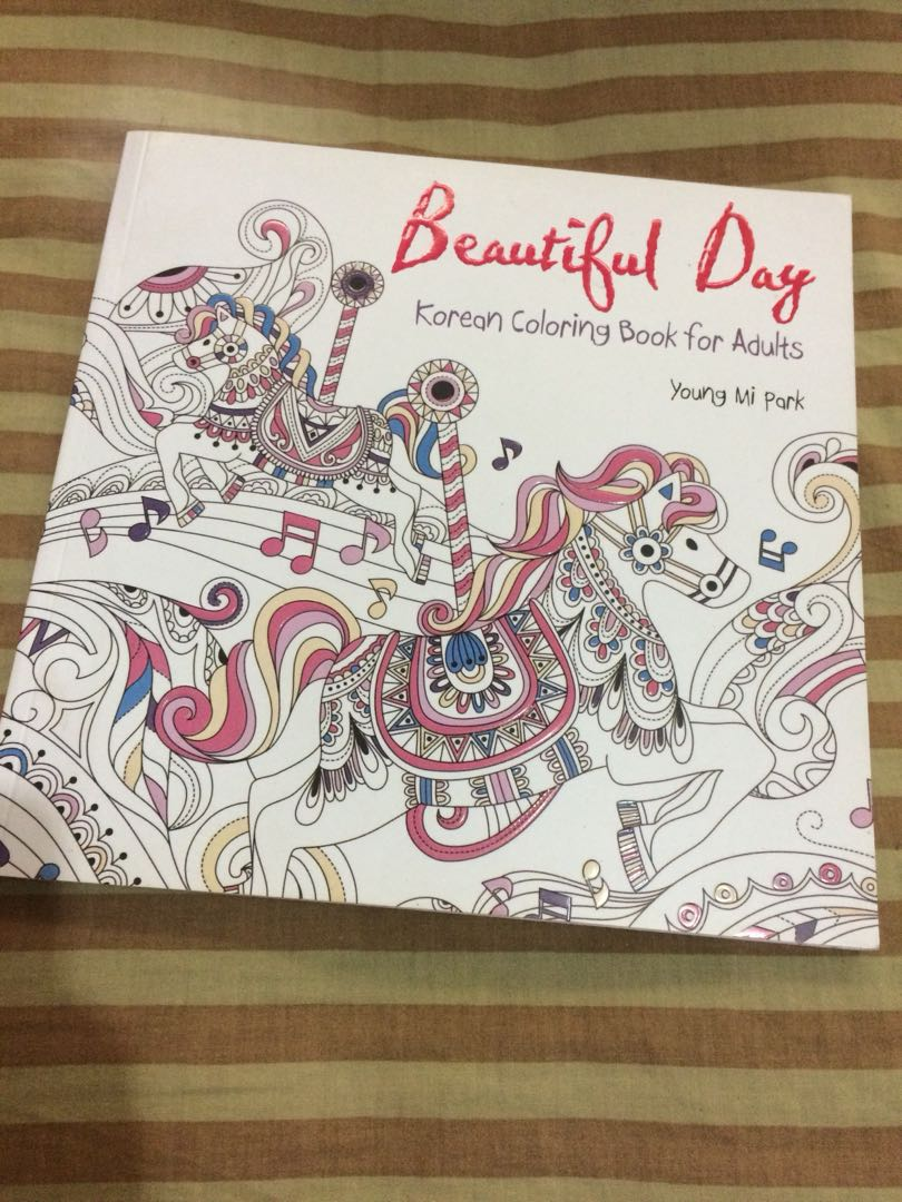 Korean Coloring Book For Adults Buku Alat Tulis Di Carousell