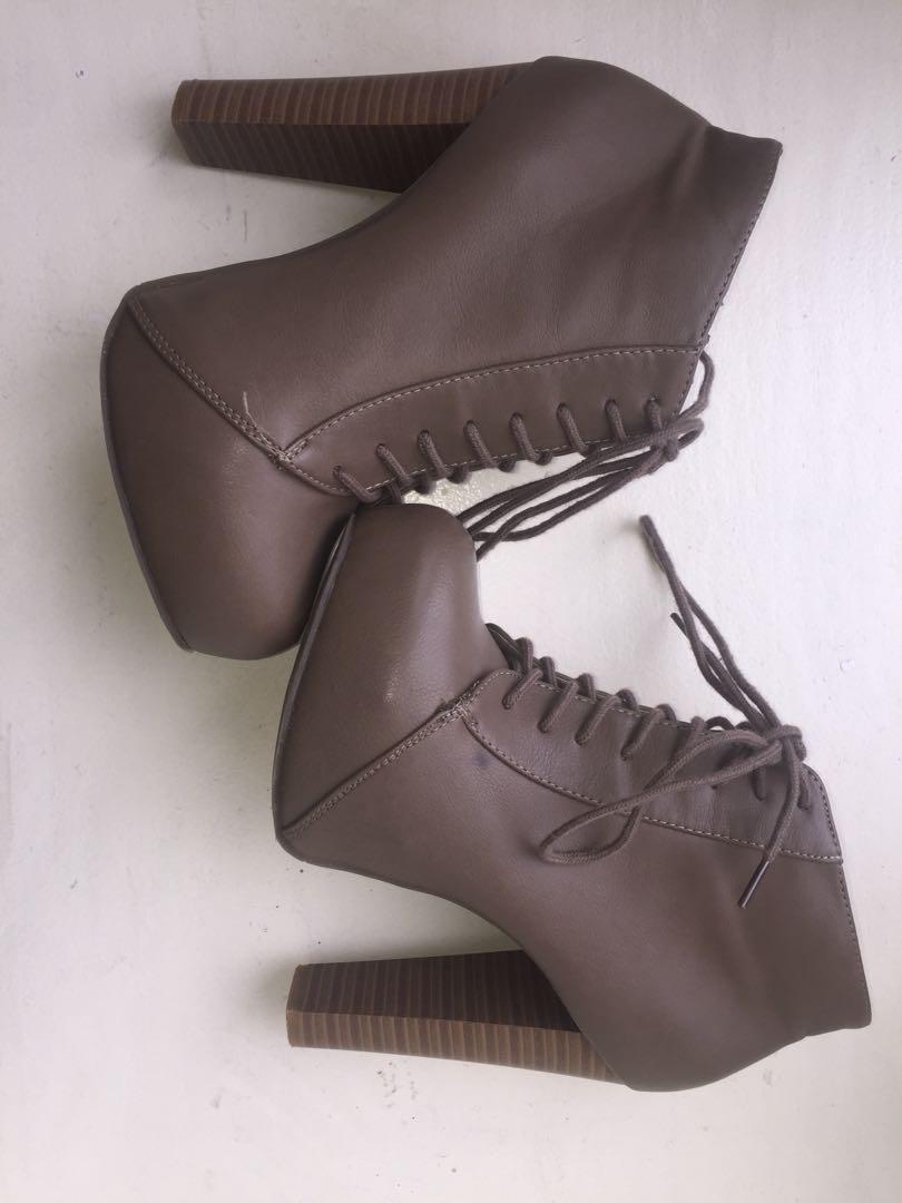 Light Brown Charlotte Russe Boot Heels