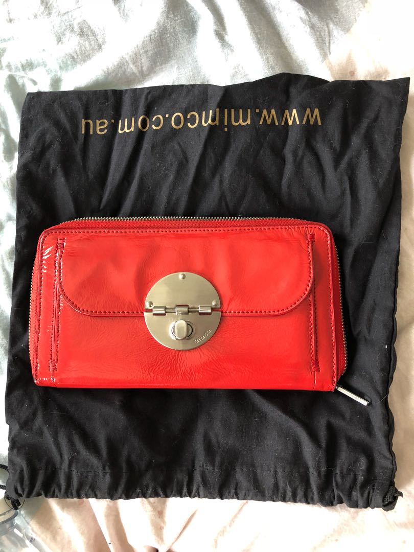 Mimco Patent Leather Large Wallet
