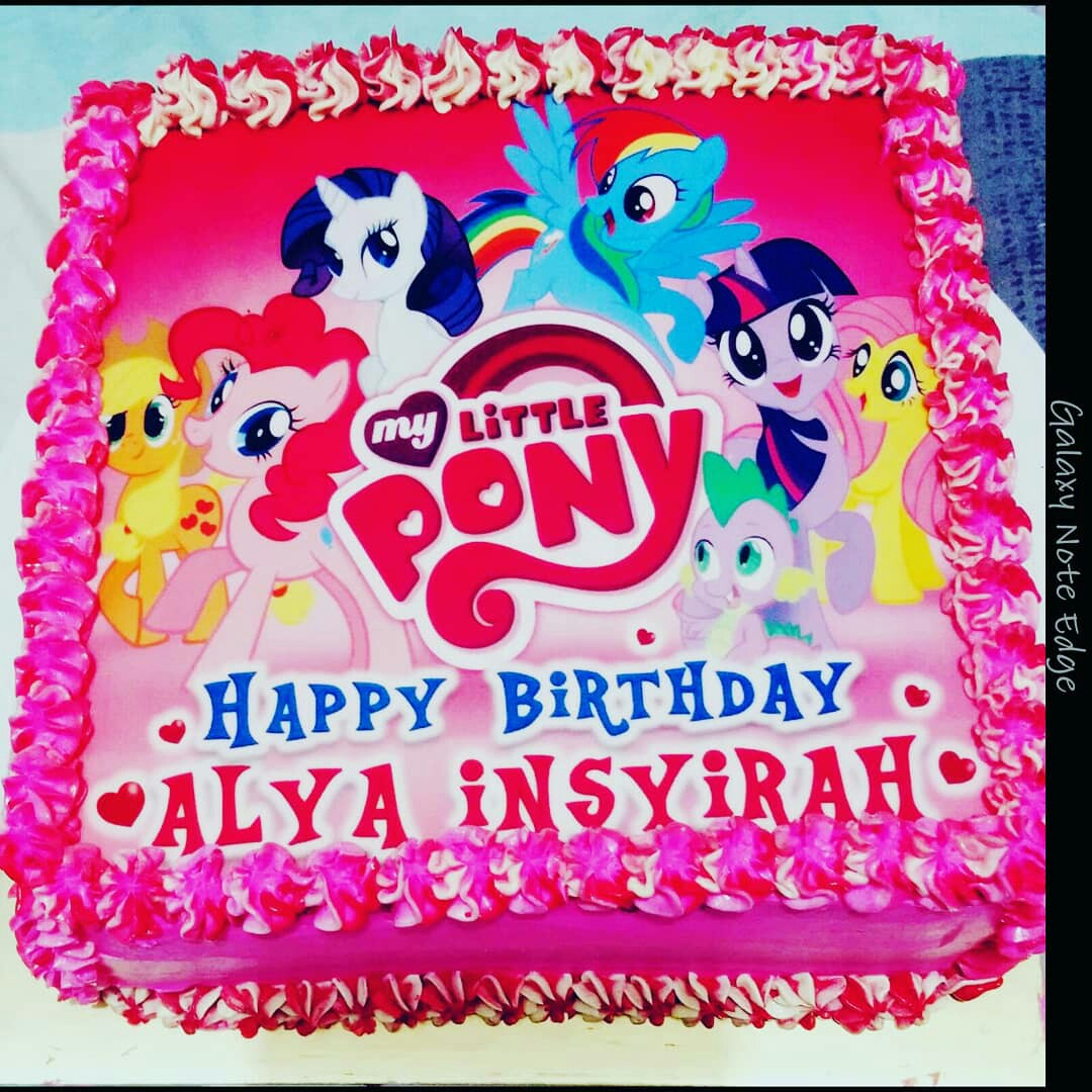 My Lil Pony Theme Cake 1kg Food Drinks Baked Goods On Carousell