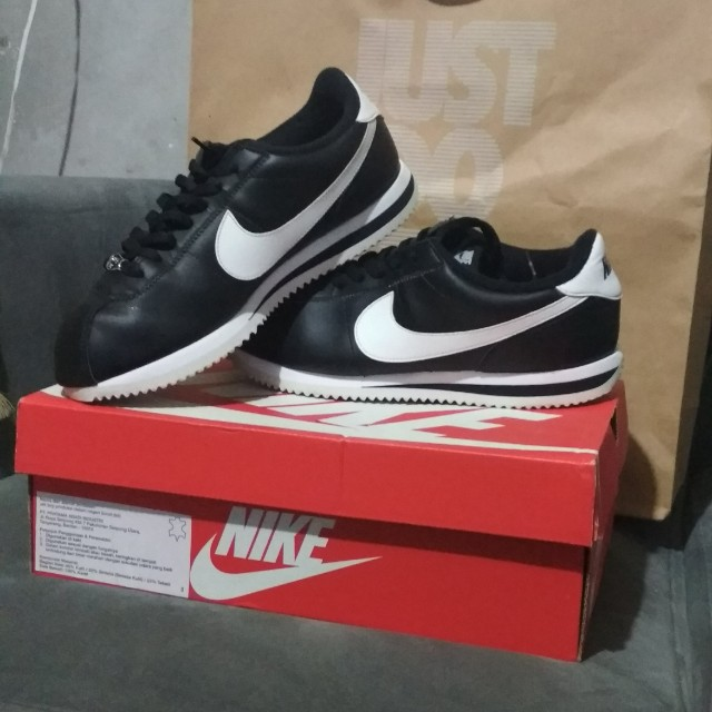 Nike Cortez Black And White Mens Fashion Footwear Sneakers On Carousell