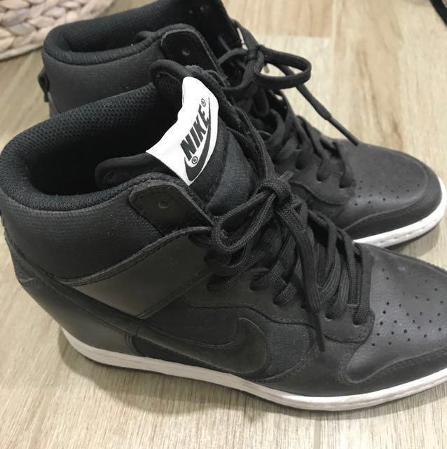 Nike Dunk Sky Hi Wedge black