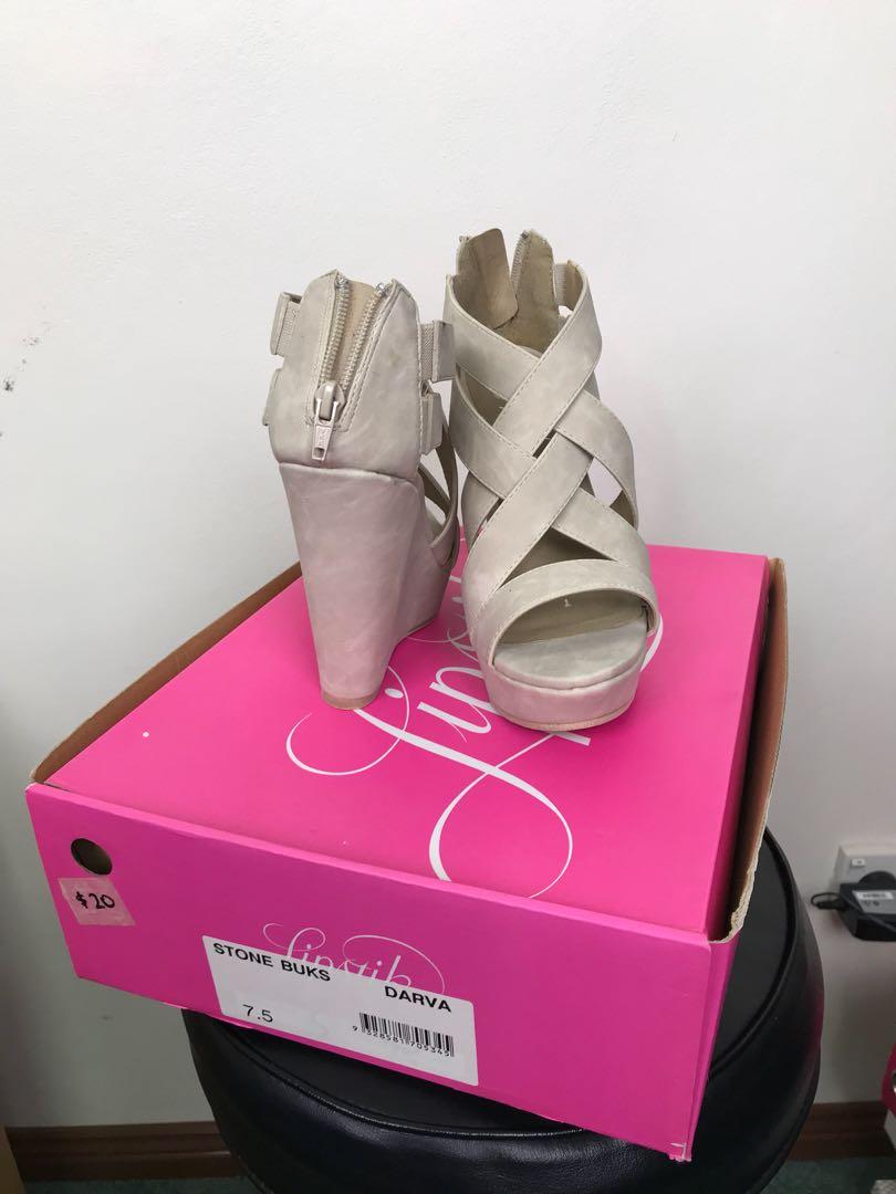 Nude Strappy Platform Heels Size 7.5