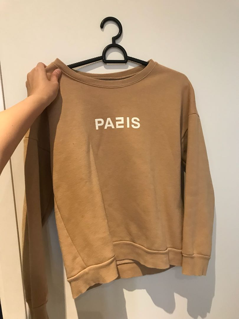pa2is paris beige brown sweater