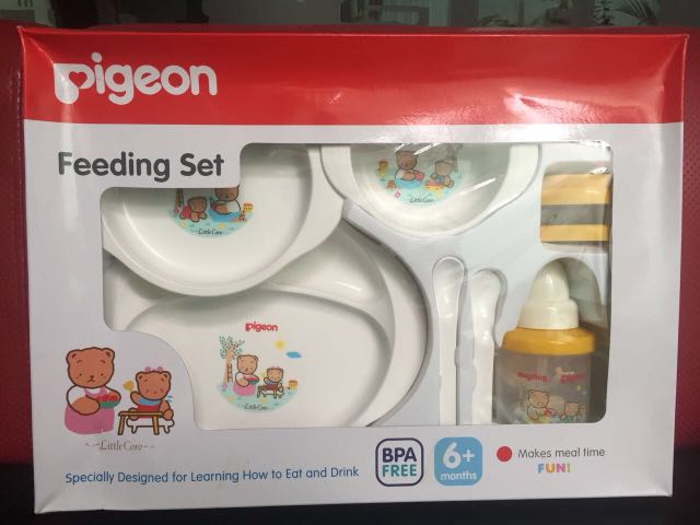 Pigeon feeding set with training cup, Babies & Kids, Babies Apparel on Carousell