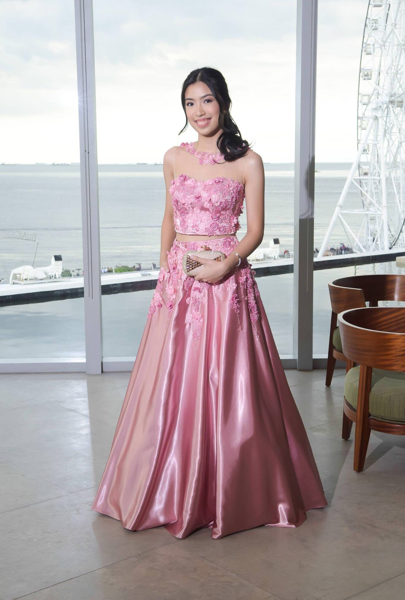 Pink Crop Long Gown - For Rent, Preloved Women\'s Fashion, Clothes on ...