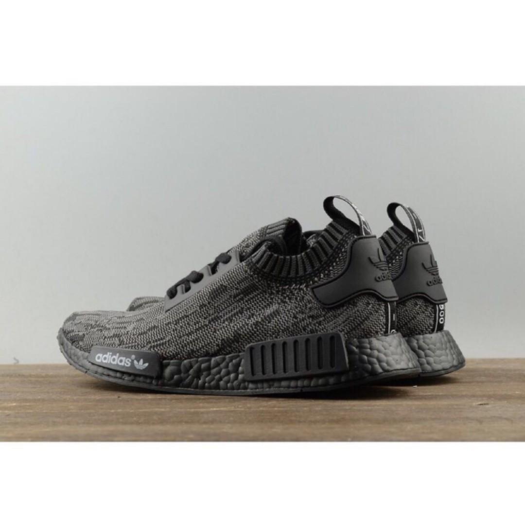 [PO SHOES] Adidas NMD_R1 Primeknit Pitch Black