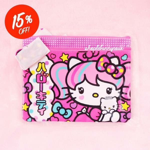 RARE Hello Kitty x Japanimation Flat Pouch be3d8d099cf36