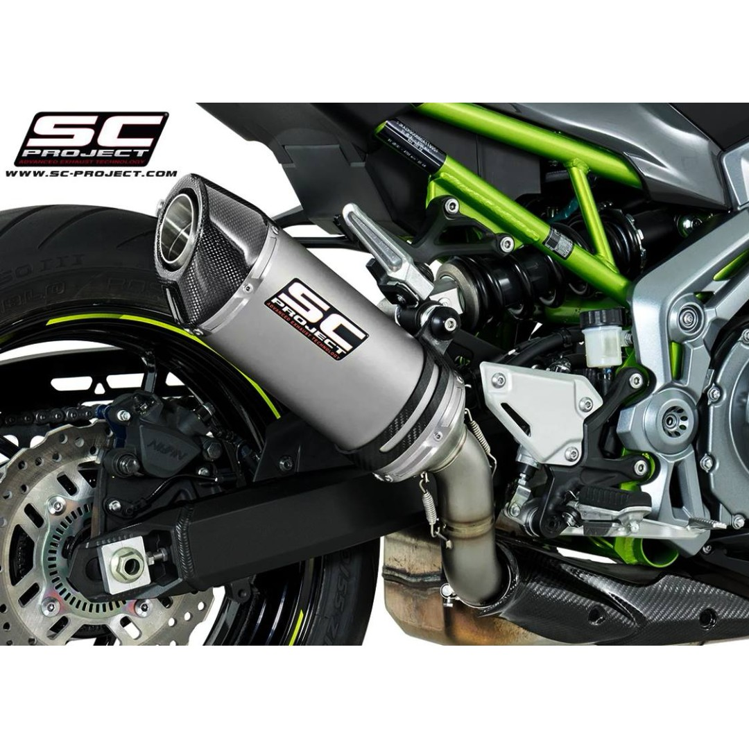 SC-Project Oval Muffler for KAWASAKI Z900 2017-2018 EURO 4