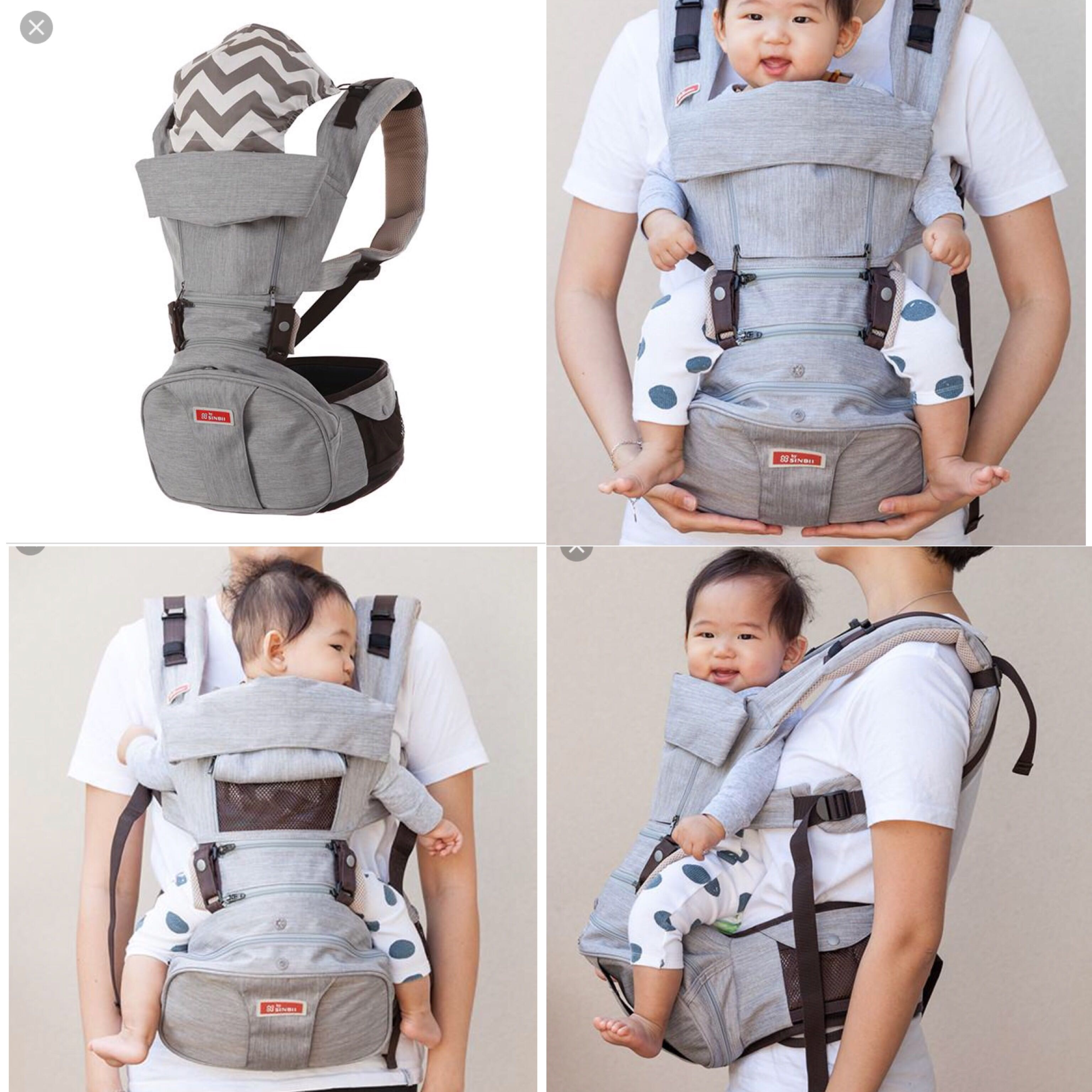 4228f41d91e Sinbii hip seat Baby Carrier grey FRONT FACING BACK FACING on Carousell