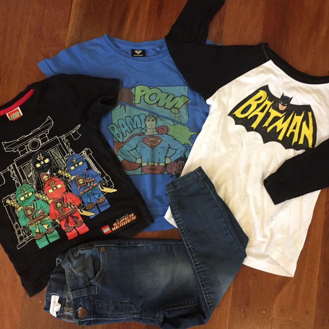 Super hero clothing set size 3