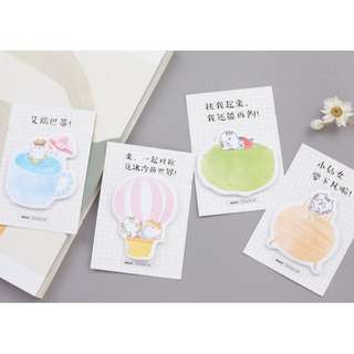 Colourful Kitty Memo Pad Sticky Notes