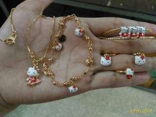 Perhiasan set lapis emas 24k