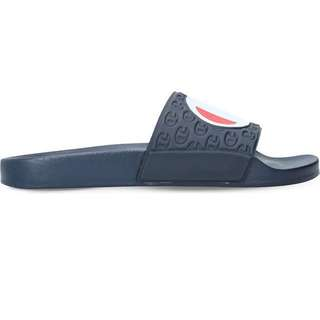 Authentic Champion Sliders in Navy