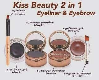 EYE LINER & EYE BROW KISS BEAUTY 2 SET (25RB)