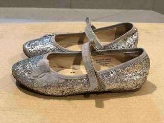 Pre loved Primark silver glittery party shoes
