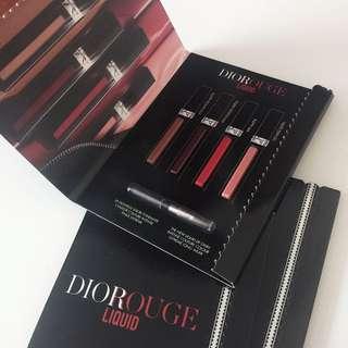 全新/Dior 迪奧藍星絕色唇萃四色試用卡 0.4ml*4
