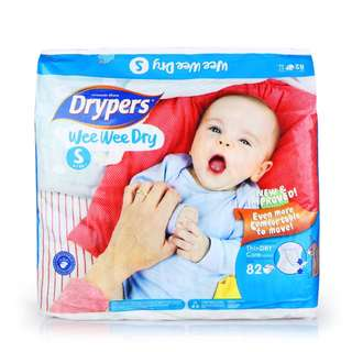 Drypers Wee Wee Dry Pampers S82 x 2 packs