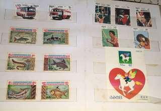🚚 集郵本~外國紀念郵票,整本一起賣(含平成2年郵票)