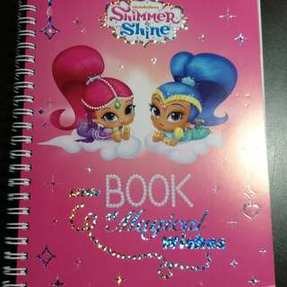 Shimmer Shine Note Book