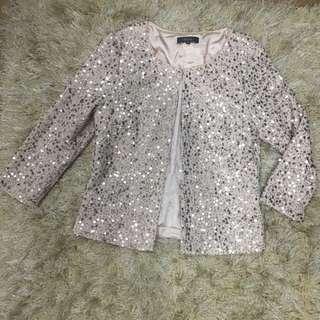 Sequins Cream Jackets