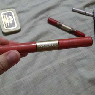 Sariayu Double liquid lipstick (matte and glossy)