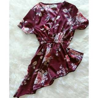 NEW Top Flower Maroon