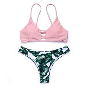 Riri Tropical Design Two Piece Swimsuit