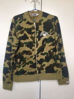 100%Real包郵 日本 Bape 外套 a bathing ape 迷彩 棒球褸