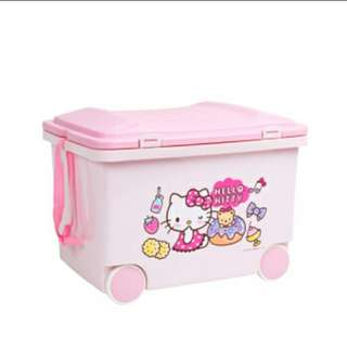 Hello Kitty Storage Box with wheel (Preorder) Free Delivery