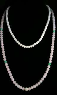 Rare Pink Jade Necklaces 925