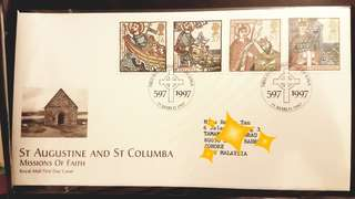 St Augustine and St columbia missions of faith (1997) first day cover
