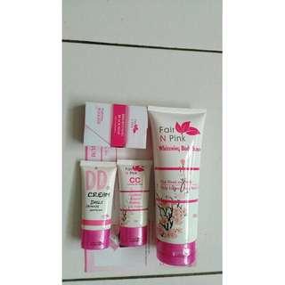 Dd , cc dan body serum fair n pink