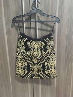 F21 Embroidered Pencil Skirt