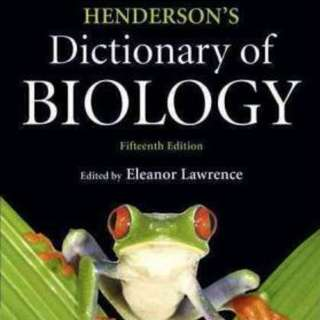 Hendersons Dictionary of Biology